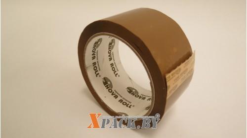 Лента упаковочная 48мм х 66м (43мкм) коричневый