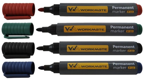 Набор маркеров перманентных P-11 Workmate (4 шт)