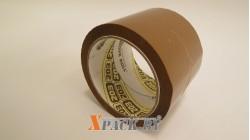 Лента упаковочная 75мм х 66м (40мкм) коричневый