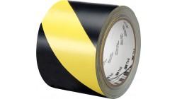 Сигнальная лента черно-желтая 75мм х 200м