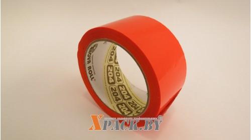 Лента упаковочная цветная 48мм х66м (оранжевый)